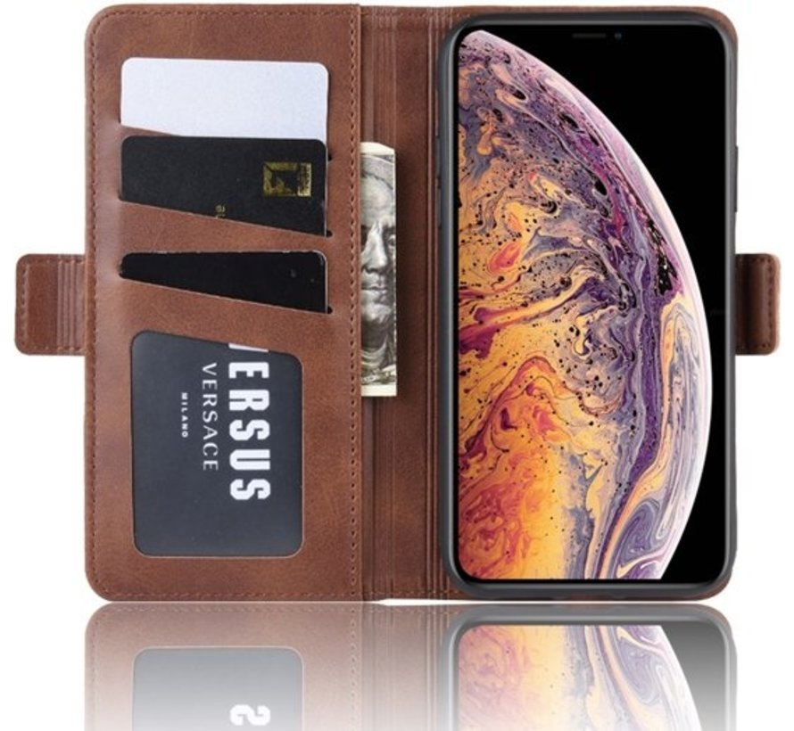 ShieldCase Leren Bookcase  iPhone 11 Pro (bruin)