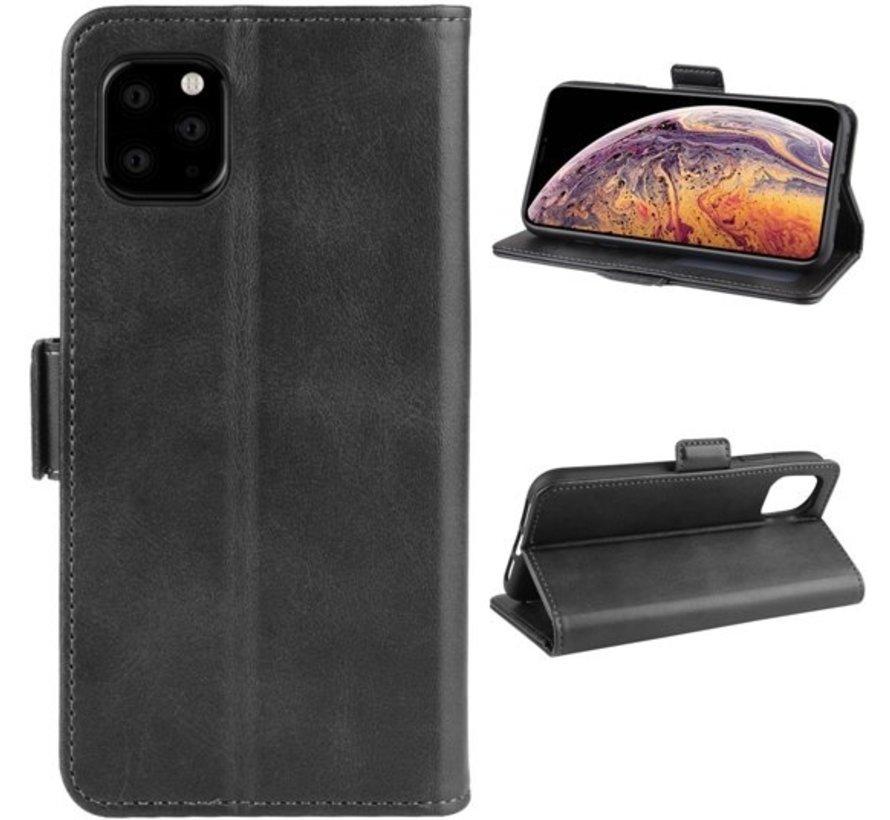 ShieldCase Leren Bookcase iPhone 11 Pro Max  (zwart)