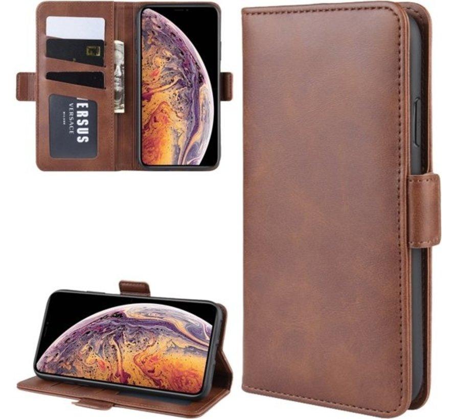 ShieldCase Leren Bookcase iPhone 11 Pro Max  (bruin)