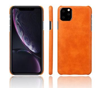 ShieldCase Vintage leren hoesje iPhone 11 (oranje)