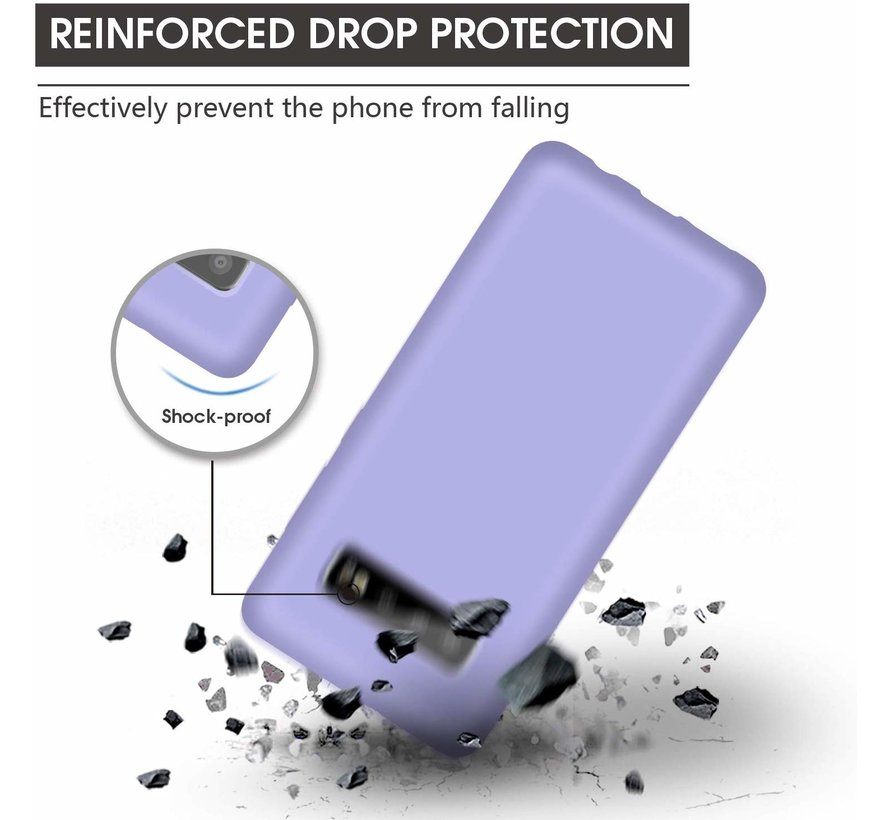 Shieldcase Silicone case Samsung Galaxy S10 (paars)