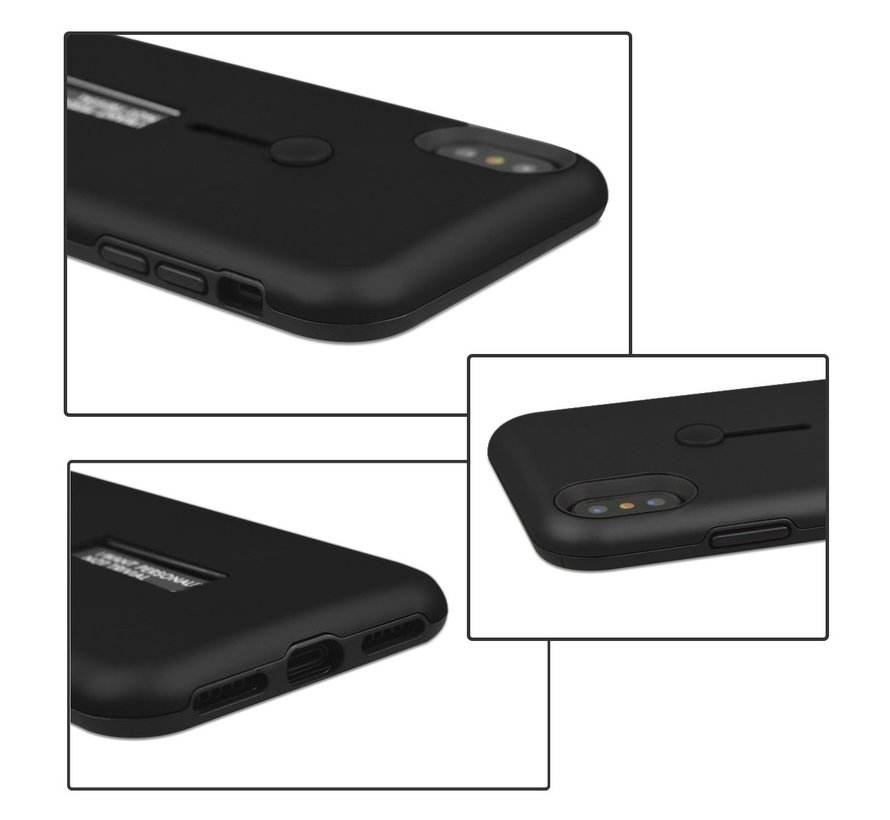 ShieldCase Finger strap Case  iPhone  X / Xs silicone (zwart)