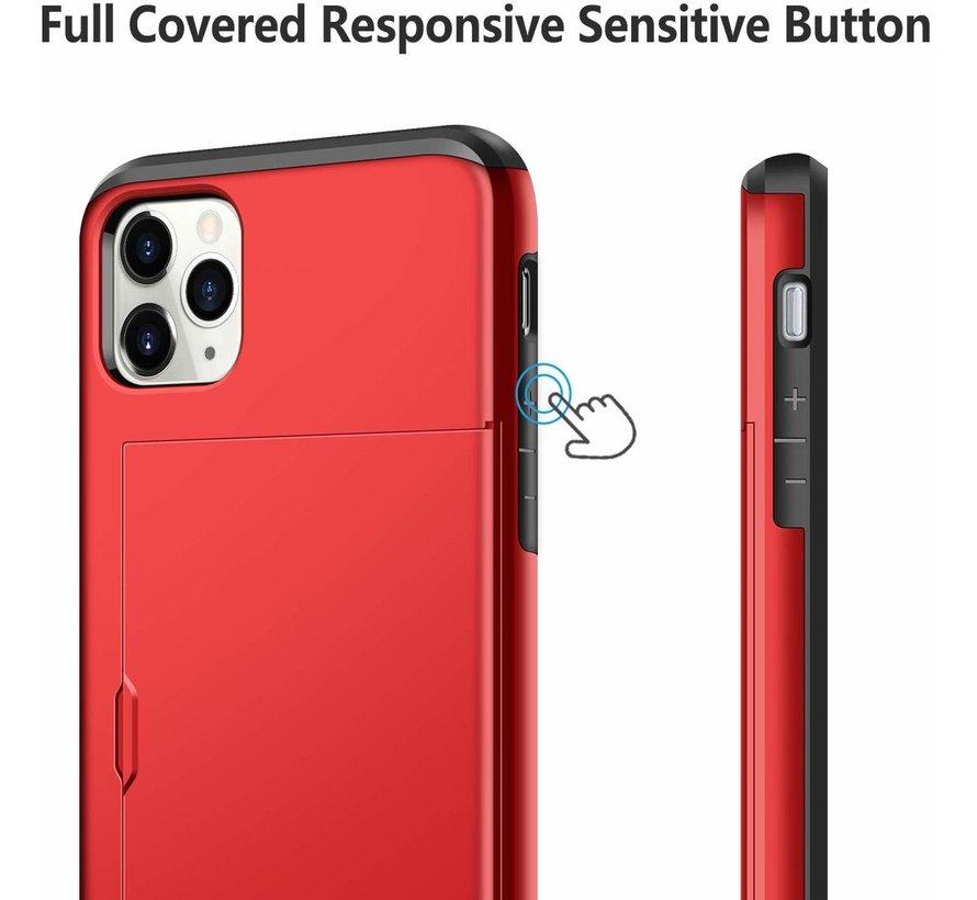 Shieldcase Kaarthouder case met slide iPhone 11 Pro (rood)
