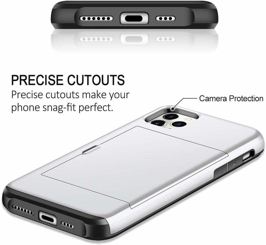 ShieldCase Kaarthouder case met slide iPhone 11 Pro Max (zilver)