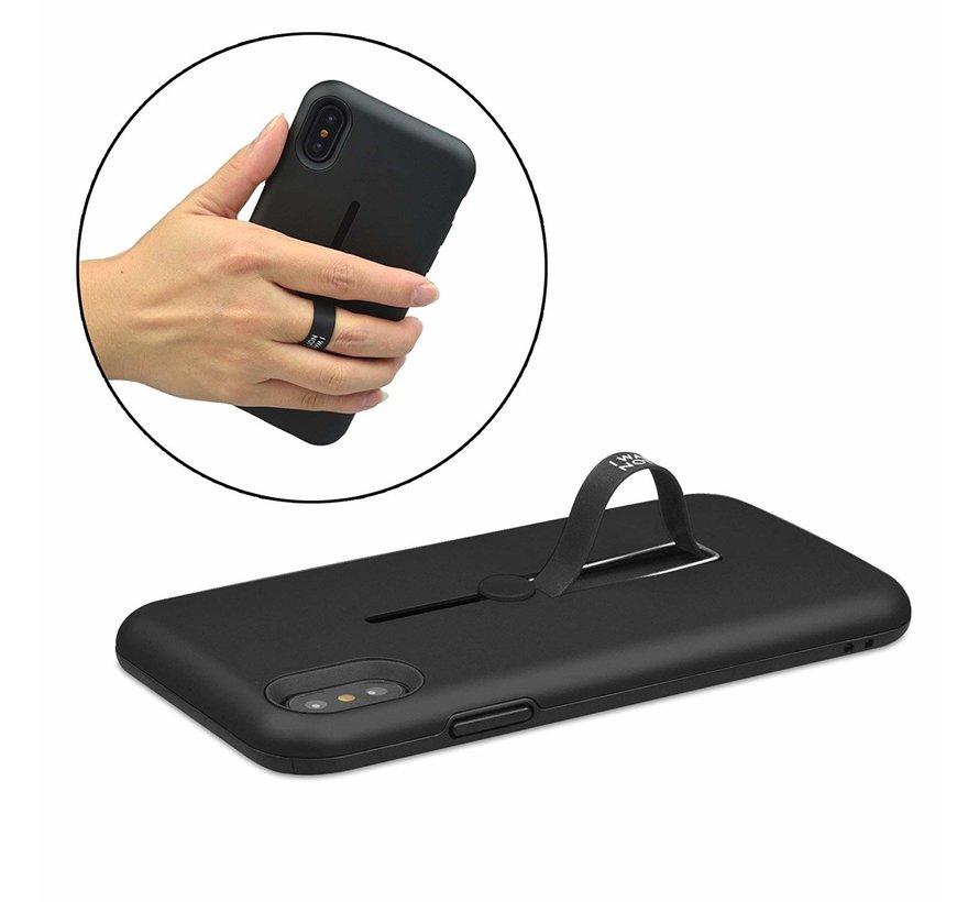 ShieldCase Finger strap Case  iPhone  Xr silicone (zwart)