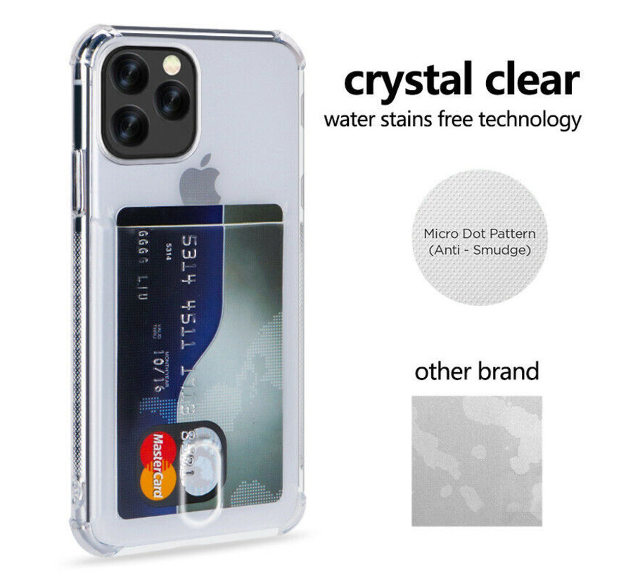 ShieldCase iPhone 11 Pro Shock case met pashouder +  Glazen Screenprotector