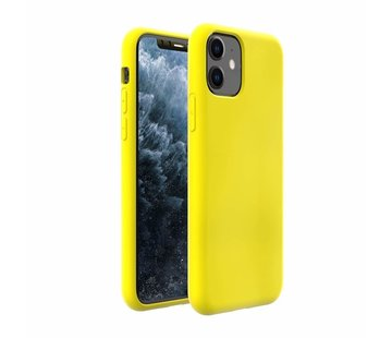 Silicone case iPhone 11 (geel)