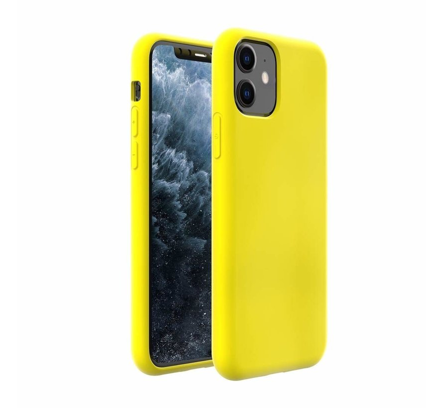 ShieldCase Silicone case iPhone 11 (geel)