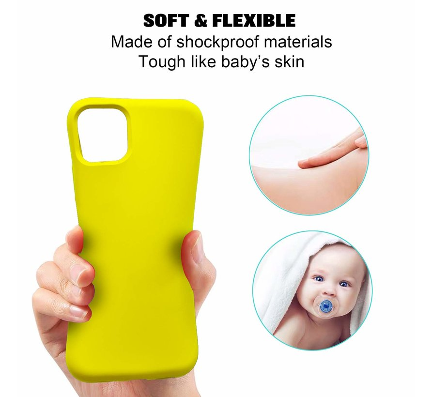 ShieldCase Silicone case iPhone 11 Pro Max (geel)