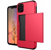 ShieldCase® Kaarthouder case met slide iPhone 11 Pro Max (rood)