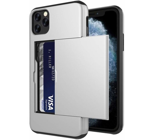 ShieldCase ShieldCase Kaarthouder case met slide iPhone 11 Pro Max (zilver)