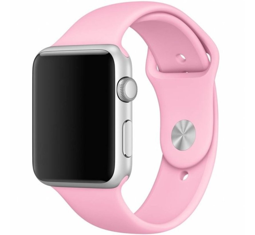 Apple Watch silicone sport band (licht roze)