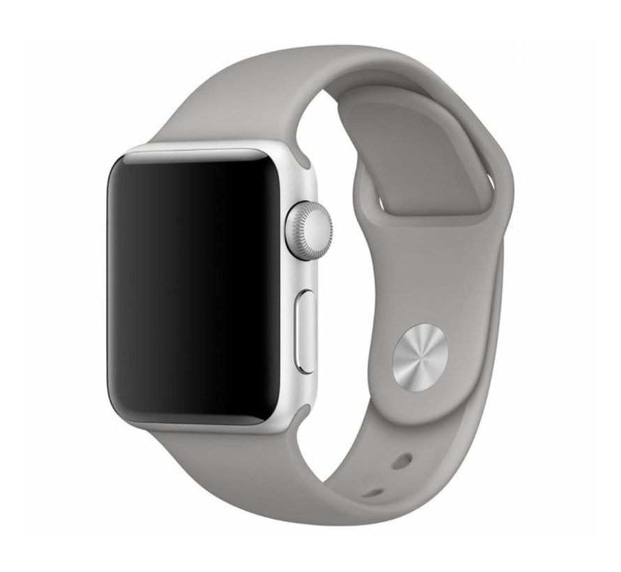 Apple Watch silicone sport band (grijs)