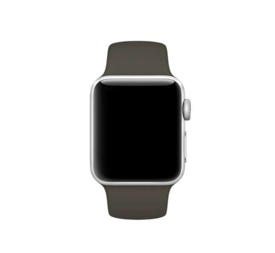 Apple Watch silicone sport band (donkergroen)