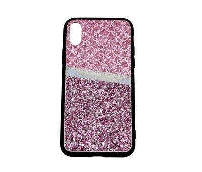 ShieldCase Shieldcase Kaarthouder glitter roze case iPhone X / Xs