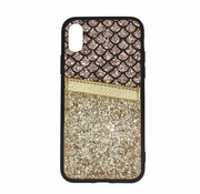 ShieldCase® Kaarthouder glitter goude case iPhone X / Xs
