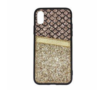 ShieldCase® Kaarthouder glitter goude case iPhone Xr