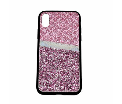 ShieldCase Shieldcase Kaarthouder glitter roze  case iPhone Xr