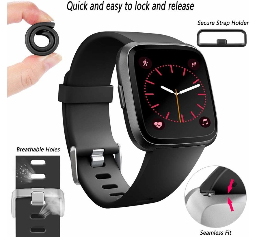 Fitbit Versa silicone band (zwart)