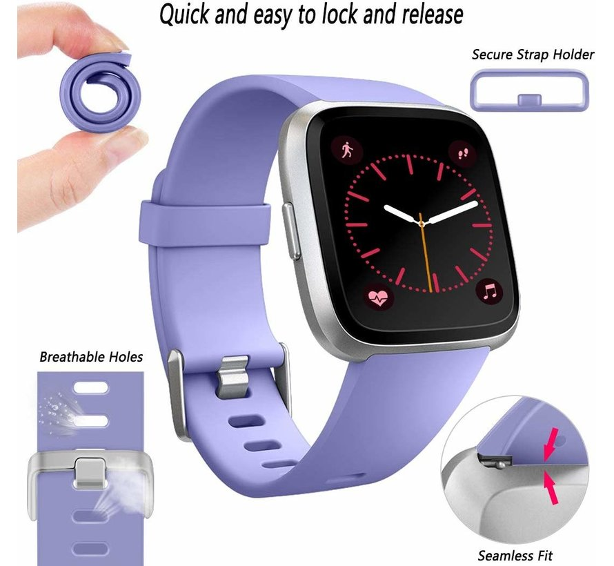 Fitbit Versa silicone band (lila)