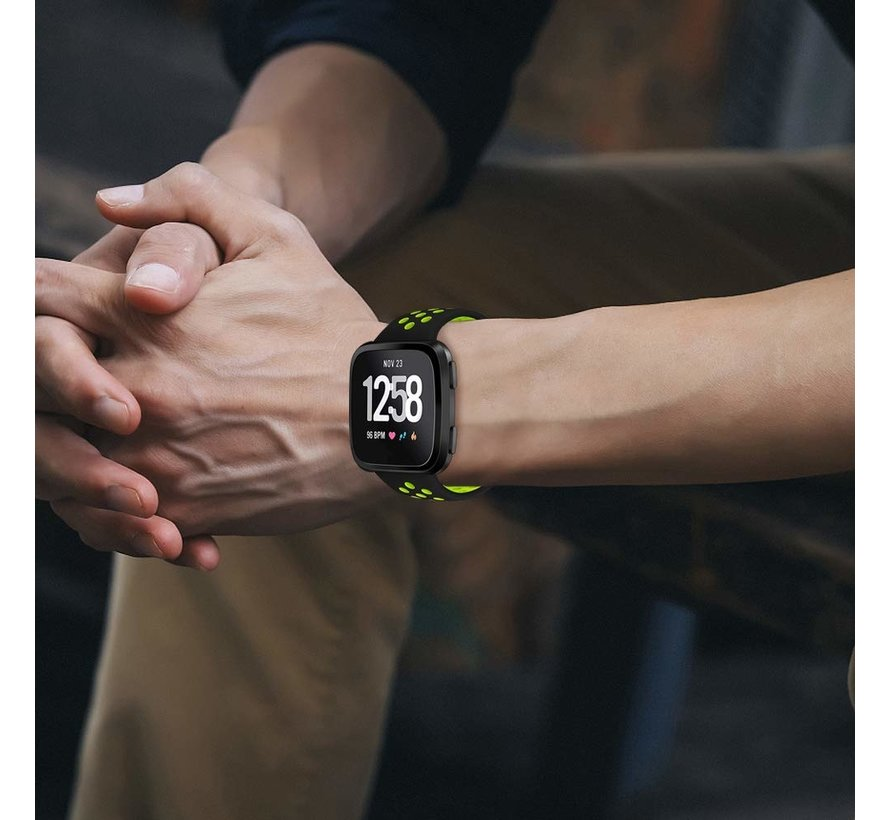 Fitbit Versa sport band (zwart/fluocent)