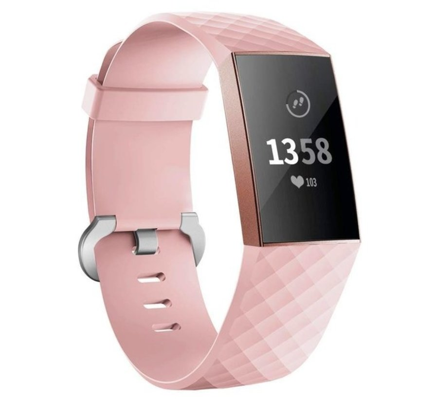 Fitbit Charge 3 silicone band (lichtroze)