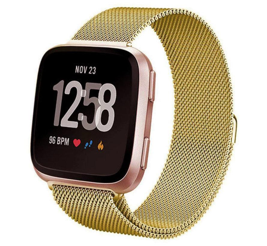 Fitbit Versa Milanese band (goud)