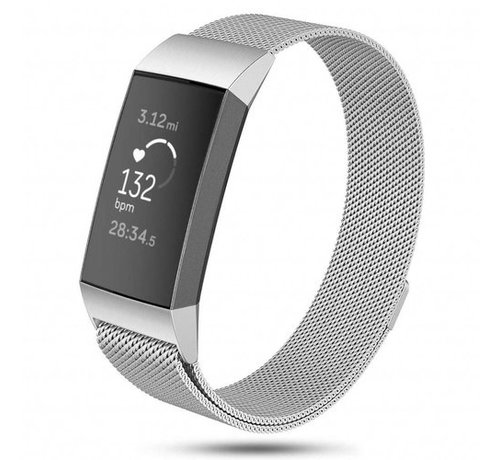 Fitbit Charge 3 Milanese band (zilver)