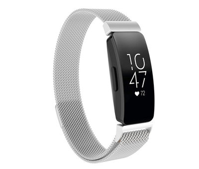 Fitbit Inspire  Milanese band (zilver)