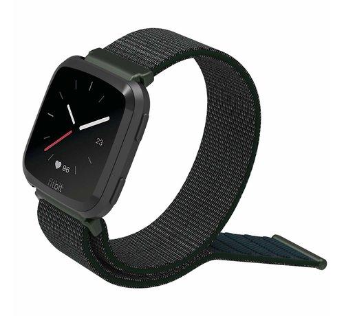 Fitbit Versa nylon bandje (olijfgroen)