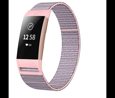 Fitbit Charge 3 nylon bandje (roze)
