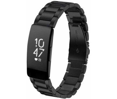 Fitbit Inspire stalen bandje (zwart)