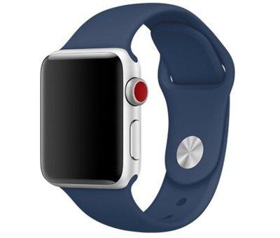 Apple Watch silicone sport band (blauw)