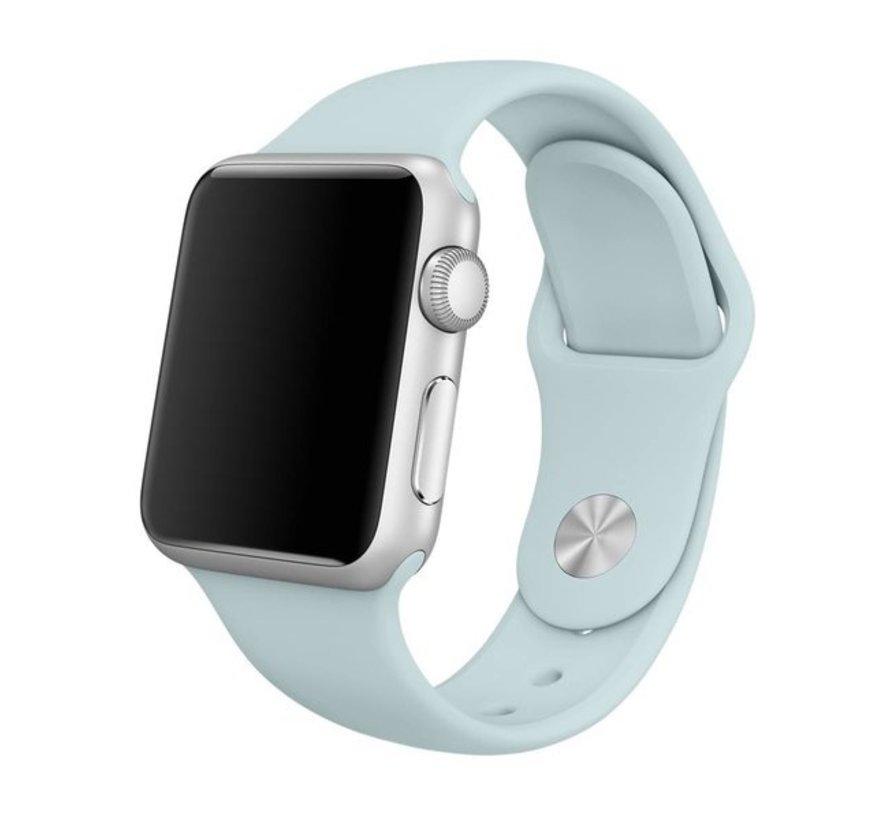 Apple Watch silicone sport band (lichtblauw)