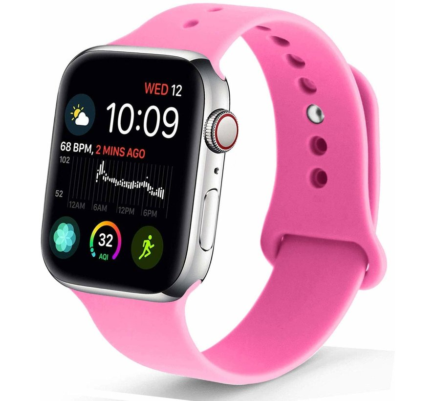 Apple Watch silicone sport band (roze)