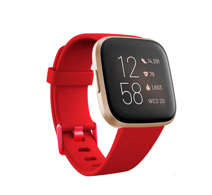 Fitbit Versa silicone band (rood)