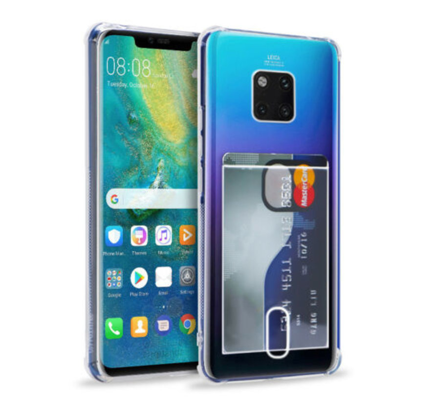 Huawei Mate 20 Pro Shock case met pashouder