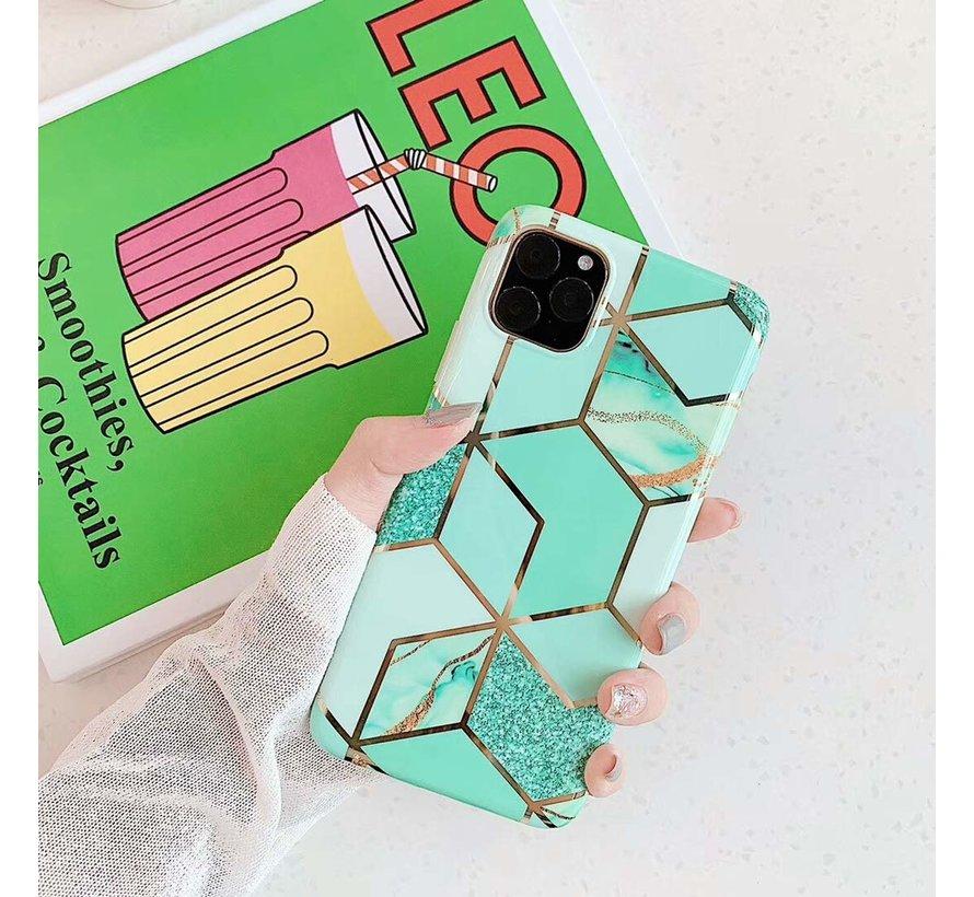 ShieldCase iPhone 11 hoesje marmer (groen)