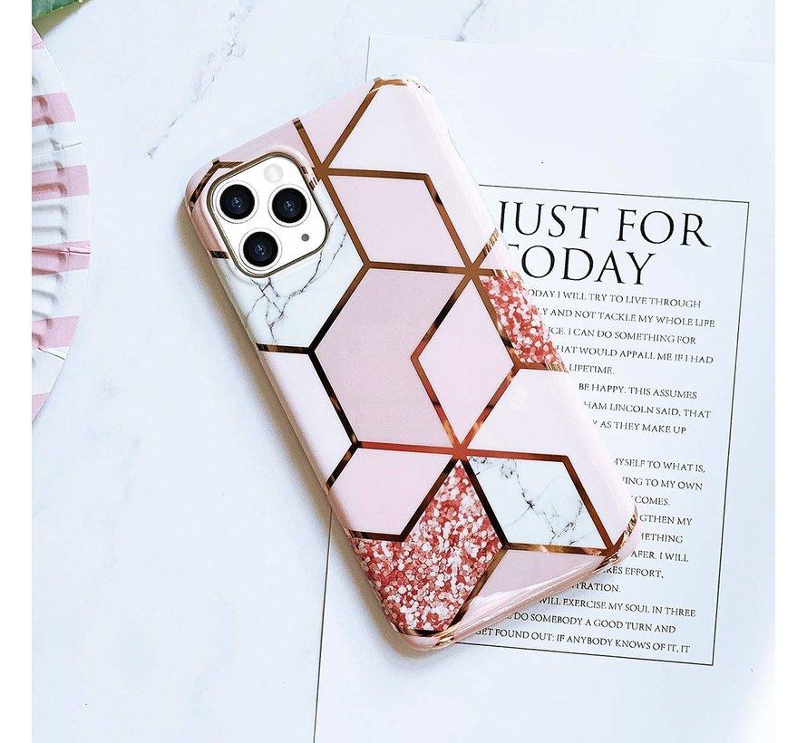 ShieldCase Marmeren patroon iPhone 11 Pro hoesje (roze)