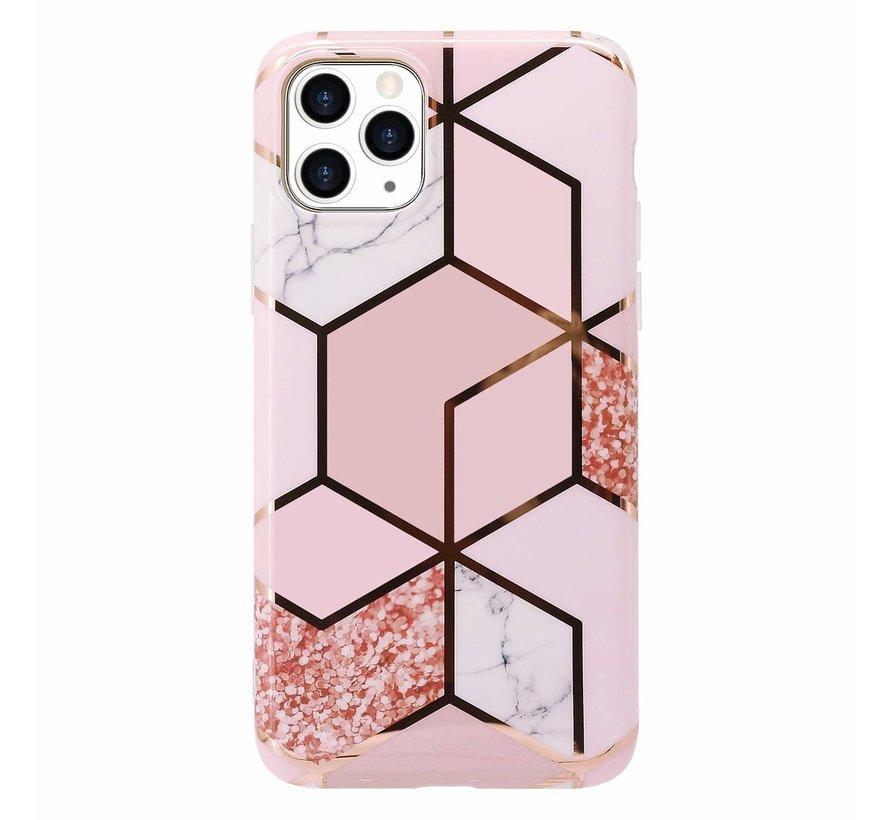 ShieldCase  iPhone 11 hoesje marmer (roze)