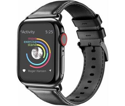 Apple Watch leren band (zwart)