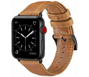 Apple Watch leren band (bruin)