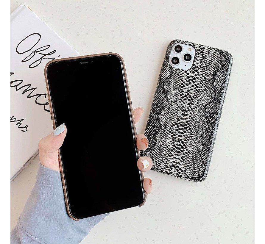 ShieldCase Slangenleer hoesje iPhone 11 (zwart-wit)