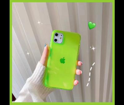 ShieldCase® ShieldCase fluoriserend hoesje iPhone 11 (geel)