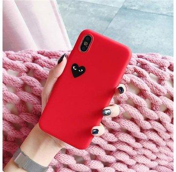 ShieldCase® Heart Eyes iPhone Xr hoesje (rood)