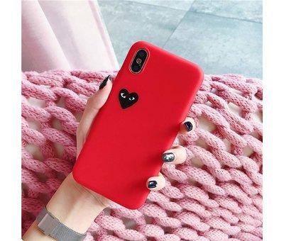 ShieldCase® Shieldcase Heart Eyes iPhone Xr hoesje (rood)