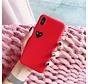 Shieldcase Heart Eyes iPhone Xr hoesje (rood)