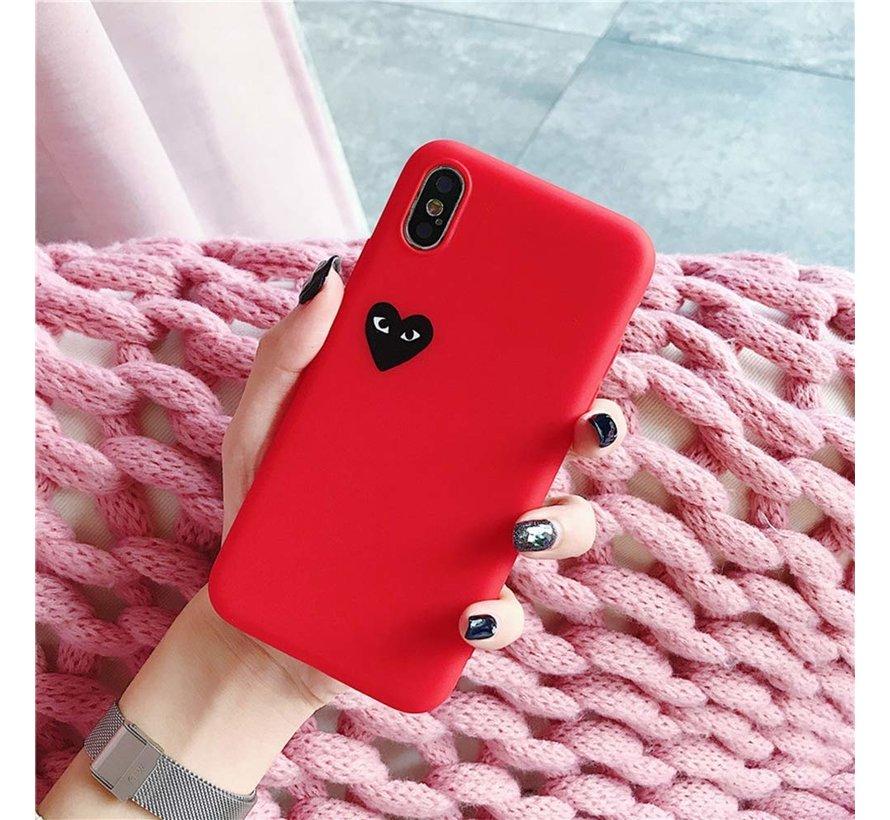 Hoesje met hartje iphone Xr (rood)