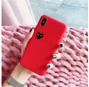 ShieldCase® Heart Eyes iphone X / Xs hoesje (rood)