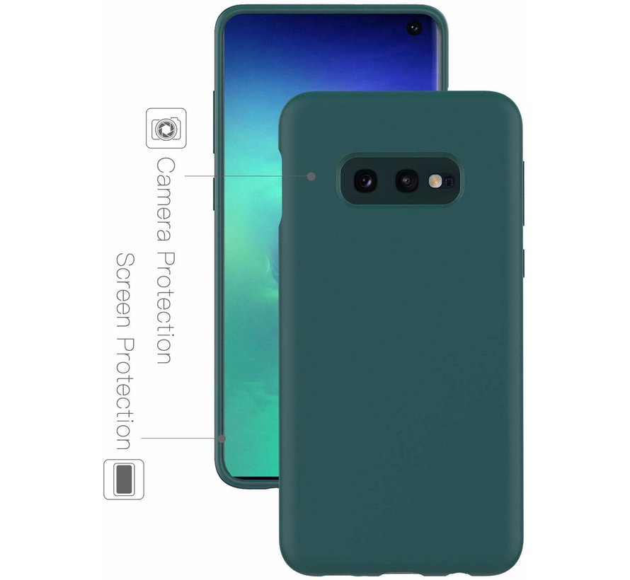 Shieldcase Silicone case Samsung Galaxy S10e (groen)